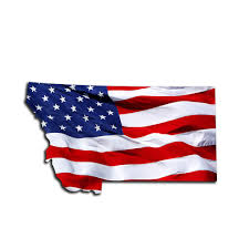 Montana Waving Usa American Flag Patriotic Vinyl Sticker Roe Graphics And Apparel