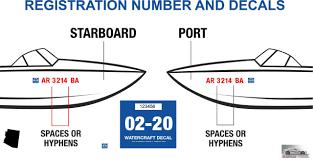 Arkansas Boat Numbers Registration Decal Designer Hoosierdecal