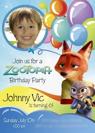 Zootopia Birthday Invitation A Nice Sample Customize It With
