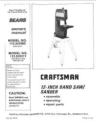 Sears 113 243311 Operating Instructions Manualzz