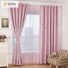 Pink Color Printed Blackout Curtains For Children Kids Room Window Drapes Sheer Curtain For Living Room Printed Blackout Curtains Curtains Forsheer Curtains Aliexpress