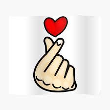 Finger Hearts Sticker Kpop Heart Funny Stickers Vinyl Stickers Car Stickers Laptop Stickers Phone Stickers Sticker By Abdelgat Redbubble