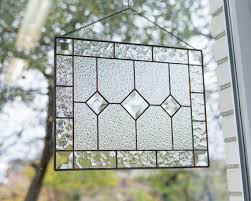 window panel with beveled glass inserts