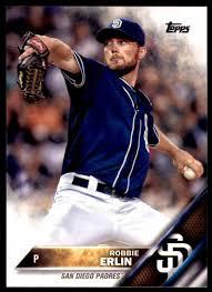 2016 Topps Robbie Erlin - San Diego Padres #473 on Kronozio