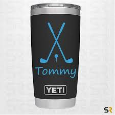 Golf Decal Personalized Name Golf Decal Yeti Cup Decals Decals For Yeti Cups Cup Decal Yeti Decals
