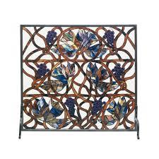 gvine single panel fireplace screen