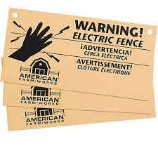 American Farmworks Electric Fence Warning Sign Pack Of 3 Aws Afw At Tractor Supply Co