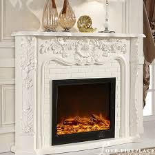 french style fireplace wooden mantel