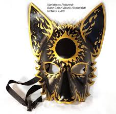 animal mask leather mystic sun wolf