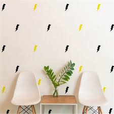 P40 Diy Wall Stickers Home Decor For Kids Room Lightning Bolt Flash Pattern Set Of 36 Wall Sticker Nursery Kids Home Stickers Home Decor Wall Stickers Home Decordecoration For Kids Room Aliexpress
