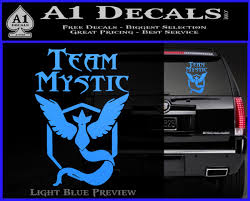 Team Mystic Full Decal Sticker Pokemon Go A1 Decals
