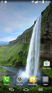 waterfall sound live wallpaper for