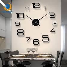 living room 3d large wall clock diy big