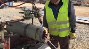 handmade gas cutting bevel machine by