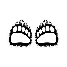 Bear Paws Animal Vinyl Sticker