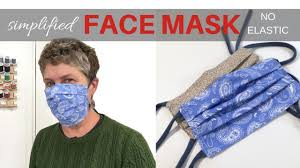 FACE MASK / No Elastic / Filter Pocket ...