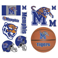Ncaa Memphis Tigers 23pc College Wall Accent Stickers