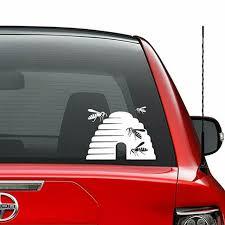 Queen Bee Vinyl Decal Sticker Beekeeper Honey Beekeeping Bumper Car Window Sign For Sale Online Ebay