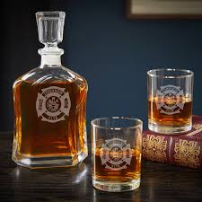 fire and rescue personalized decanter