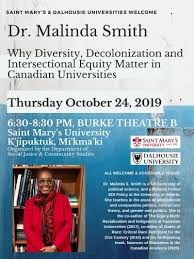 Dr. Malinda Smith keynote lecture Oct. 24 2019 @ SMU: Why ...
