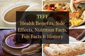 teff health benefits side effects