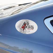 Harley Quinn Already Disturbed Automotive Car Refrigerator Locker Vinyl Euro Oval Magnet Walmart Com Walmart Com