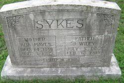 Ada Hayes Sykes (1891-1985) - Find A Grave Memorial