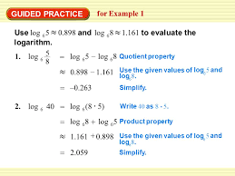 example 1 rewrite logarithmic equations