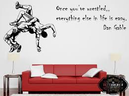 Wrestling Wall Decal Wrestling Decals Wrestling Quotes Decals Etsy