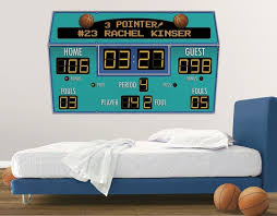 Basketball Scoreboard Peel And Stick Wall Mural Multiple Color Choices Http Www Theboysdepot Com Basketball Sc Basketball Room Big Kids Room Big Boy Room