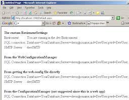 web config file across all environments