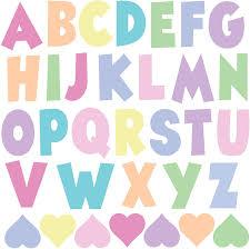Amazon Com Pastel Rainbow Alphabet Wall Stickers Abc S Abc Wall Stickers Nursery Decor Kids Room Wall Decals Arts Crafts Sewing