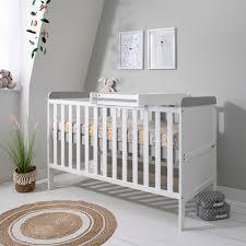 tutti bambini rio cot bed white grey