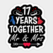 17th wedding anniversary gift tee for