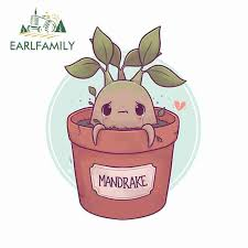 Earlfamily 13cm X 10 2cm For Mandrake Crying Plant Car Bumper Window Stickers Diy Vinyl Car Wrap Waterproof Scratch Proof Decal Car Stickers Aliexpress