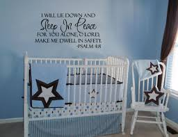 Sleep In Peace Psalm 4 8 Bible Verse Lettering Wall Decal Decor Quote Inspire For Sale Online