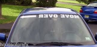 43 Long Move Over Windshield Visor Banner Decal Decals Car Truck Graphics Cars Trucks Truck Graphics Windshield