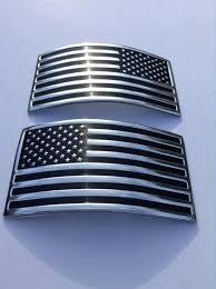 Usa Flag X 2 Car Auto Truck Chrome Flexible Decal American Sticker 3d Emblem Ebay Motors Parts Accessories Car Tru American Stickers Emblems Us Flags