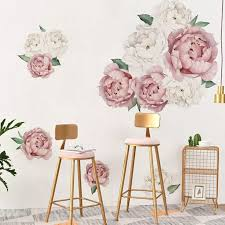 45x60cm White Red Rose Diy Home Art Wall Decal Decor Room Sticker Vinyl Removable Paper Nursery Decor Kids Room Mural Decal Wall Stickers Aliexpress