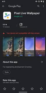pixel live wallpaper app arrives on