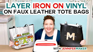 How To Layer Iron On Vinyl On A Faux Leather Totebag Youtube