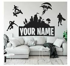 Fortnite Game Wall Sticker Decal Mural Name Art Stickers Bedroom Home Room Decor Ebay