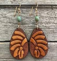j forks tooled headdress earrings with