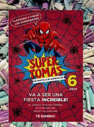 20 Hombre Arana Spider Man Invitacion Cumpleanos Comic 480 00