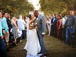 dream wedding in their own backyard