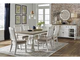 Millennium Havalance D814 25 6x01 60 8 Pc Table 6 Uph Side Chairs And Server Set Sam Levitz Furniture Dining 7 Or More Piece Sets