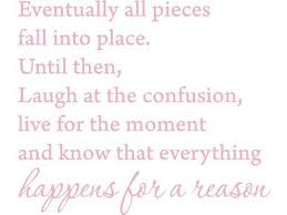 Pink 22 X 18 Eventually All Pieces Fall Into Place Inspirational Quotes And Saying Vinyl Wall Art Home Decor Decal Sticker Newegg Com