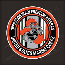 Operation Iraqi Freedom Veteran Marine Corps Sticker Decal