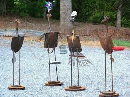 metal yard art
