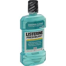 listerine mouthwash fresh mint green